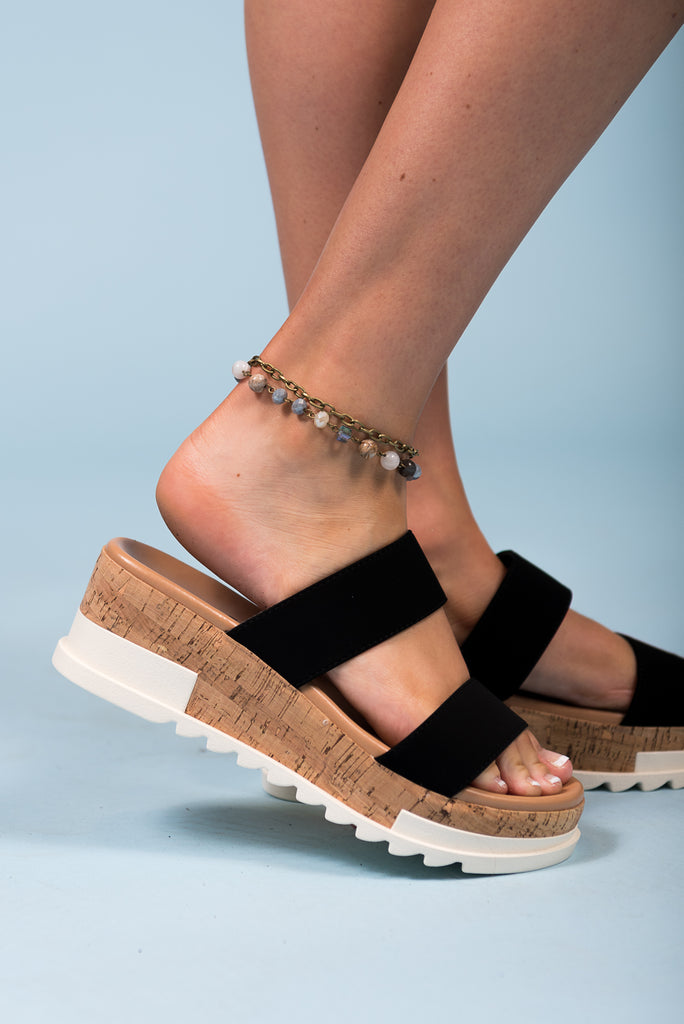 Demi Anklet in Bamboo Agate