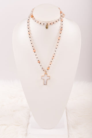 Eve Necklace in Blush