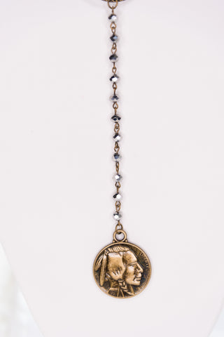 Josie Necklace in Buffalo Nickel