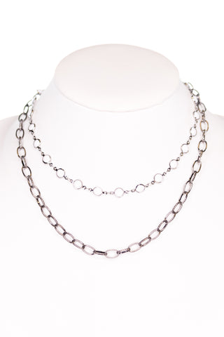 Kadee Necklace in White/Hematite