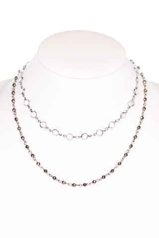 Kadee Necklace in Clear/Hematite