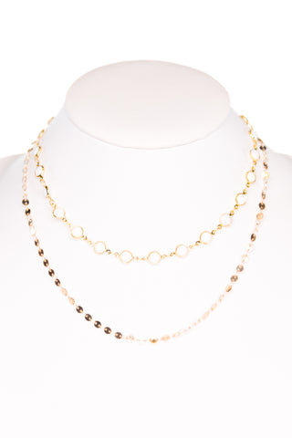 Kadee Necklace in White/Gold