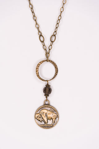 Marisol Necklace in Buffalo Nickel