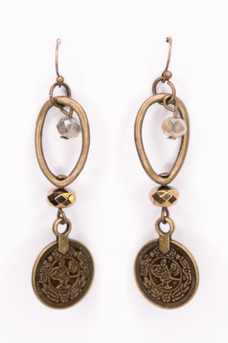 Molly Earrings in Small Coin