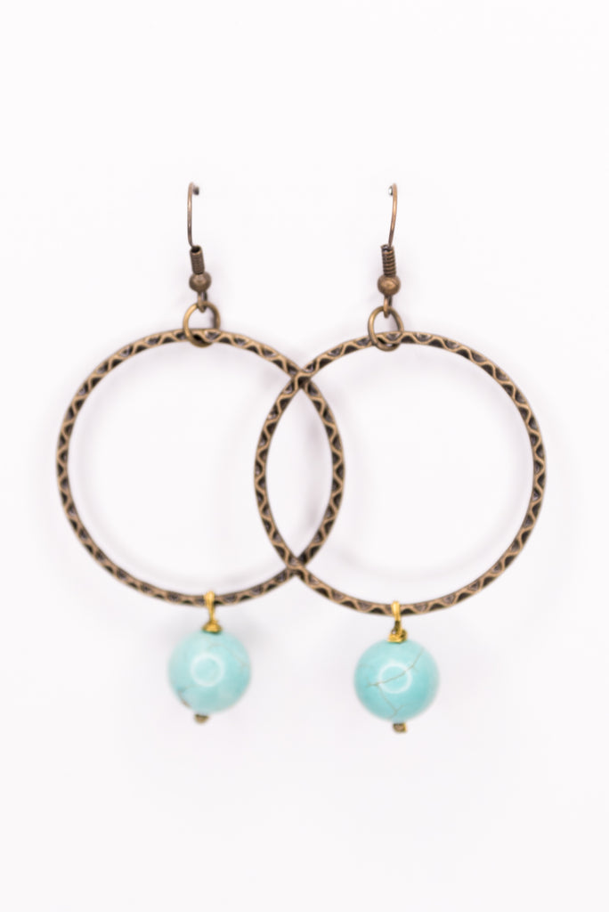 Olivia Earrings in Turquoise
