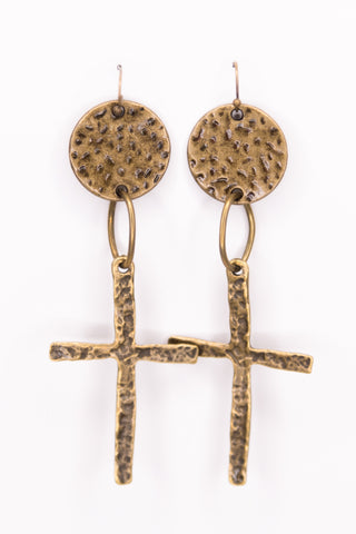 Rosemary Earrings in Cross
