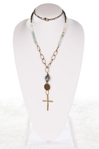 Rosemary Necklace in Amazonite