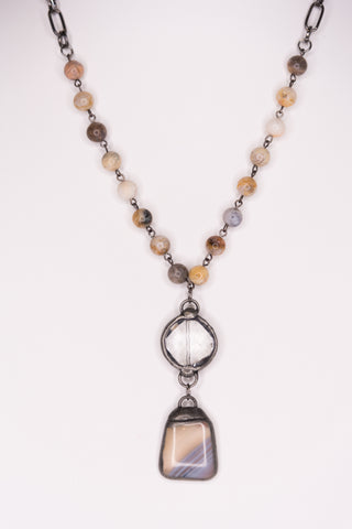 Sophie Necklace in Bamboo Agate