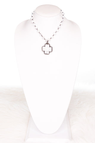 Theresa Necklace in White