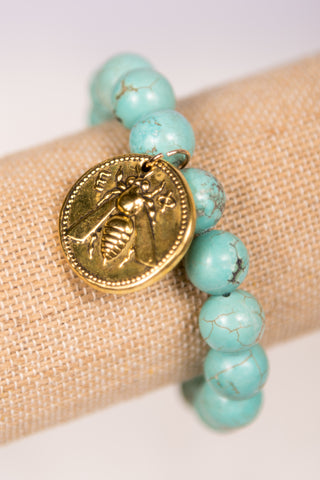 Megan Bracelet in Gold Turquoise