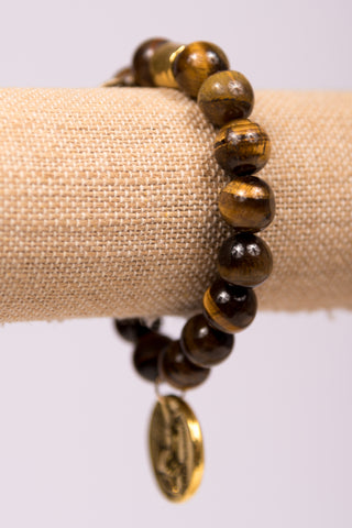 Megan Bracelet in Gold Tiger Eye