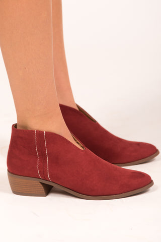 Ruby Red Booties