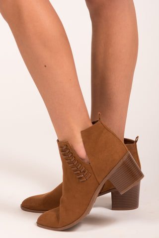 Finally Fall Booties in Chestnut