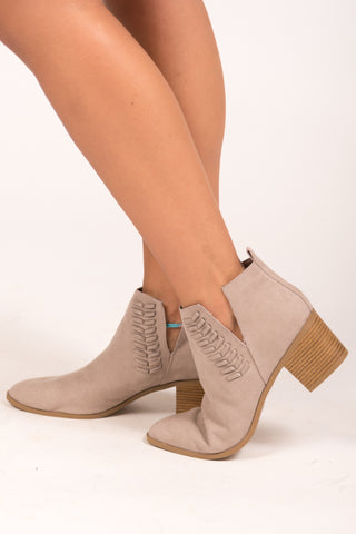 Finally Fall Booties in Taupe