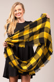 Out of The Woods Scarf in Black & Gold