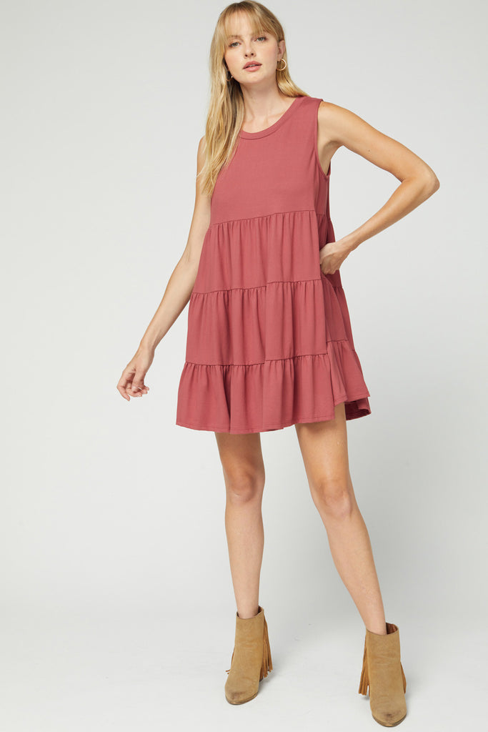 Five More Minutes Dress in Marsala