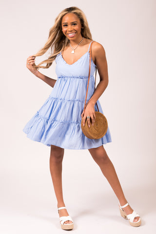 Don't Call Me Baby Dress in Blue