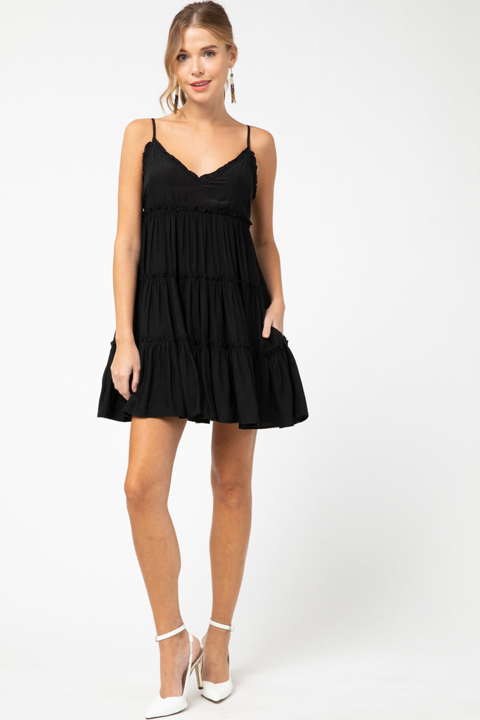 Don't Call Me Baby Dress in Black