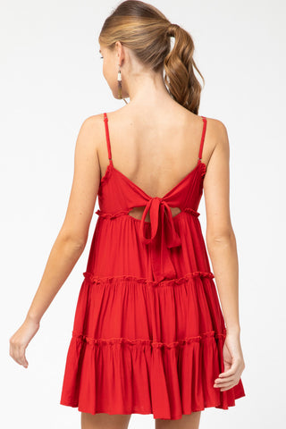 Don't Call Me Baby Dress in Red