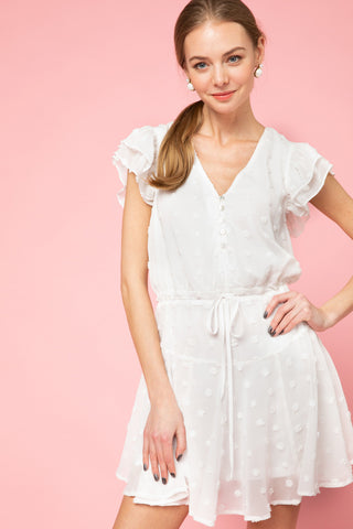 Heart Strings Dress in Off White