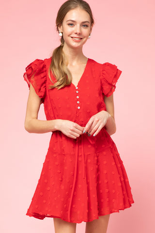 Heart Strings Dress in Red