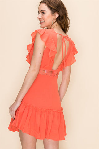 Enchanted Dress in Light Orange