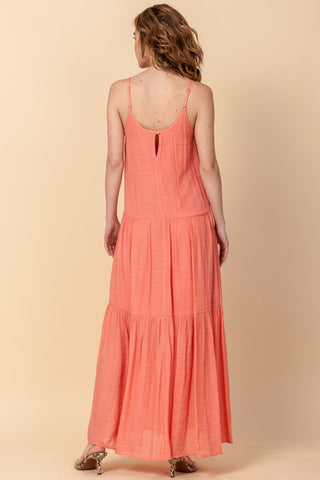 Daybreak Maxi Dress in Light Orange