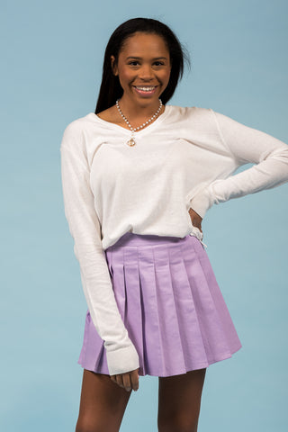 Someone New Skort in Lilac