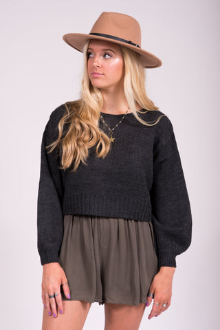 Dreamer's World Sweater in Charcoal