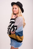 Alive and Radiant Sweater in Blue Multi