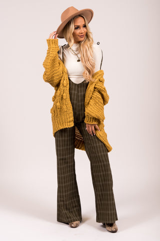 Knit & Cozy Cardigan in Mustard
