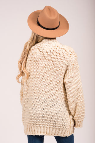 Knit & Cozy Cardigan in Off White