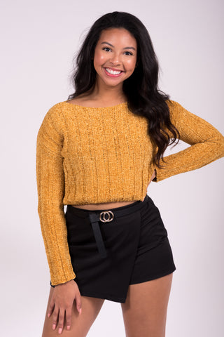 Everything Changes Sweater in Mustard