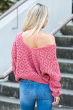 Heart of Glass Sweater in Faded Rose