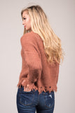 On the Edge Sweater in Mauve