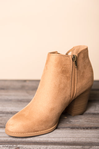 City Street Strolls Booties in Camel