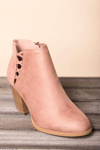 City Street Strolls Booties in Blush