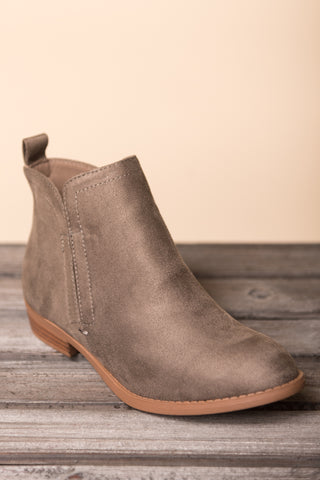 A Walk in The Park Booties in Charcoal
