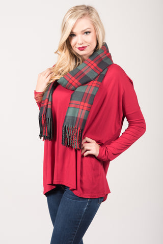 Back to December Scarf in Red/Green