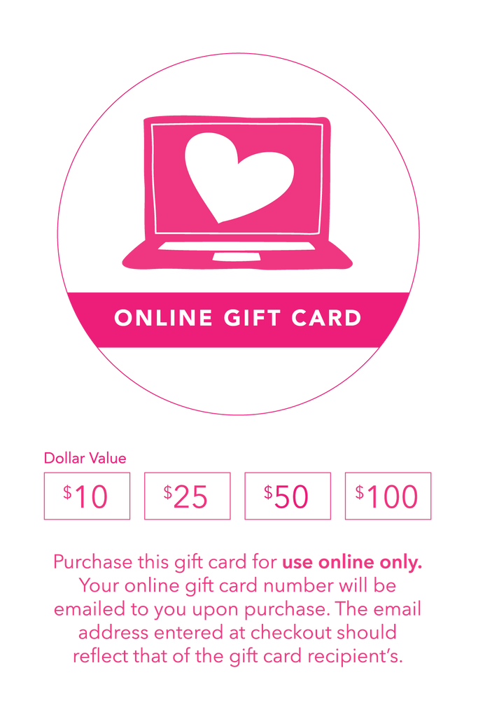 Online Gift Card ($10-$100)