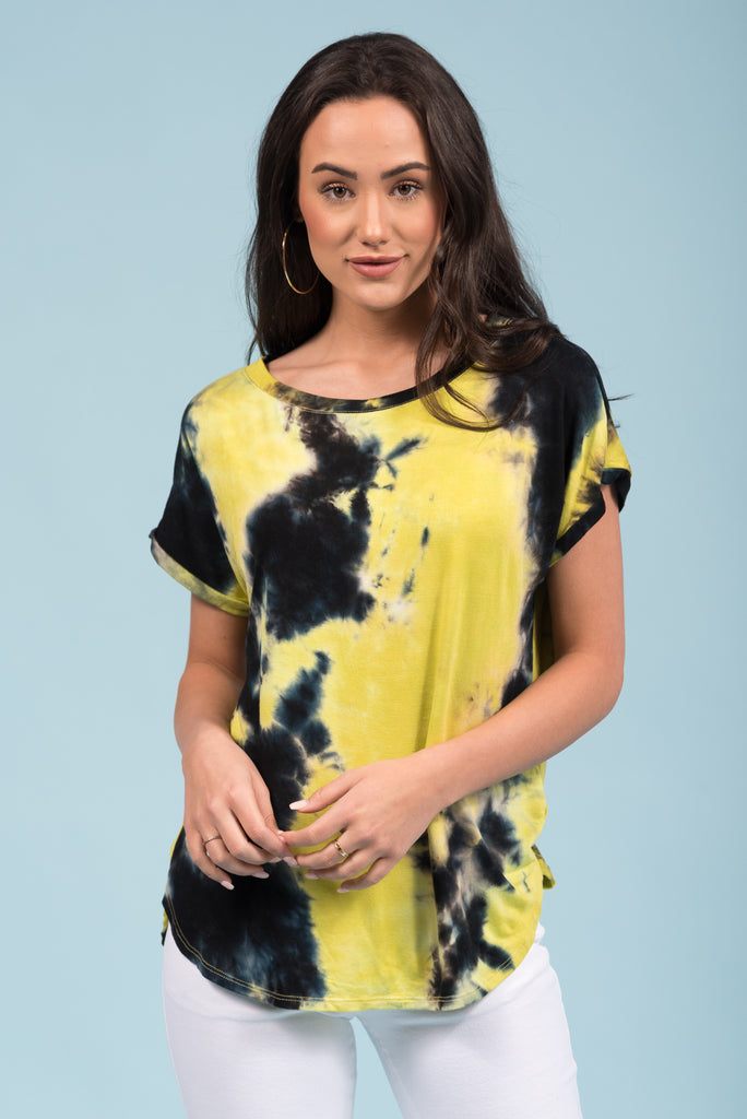 To Tie-Dye For Top in Green