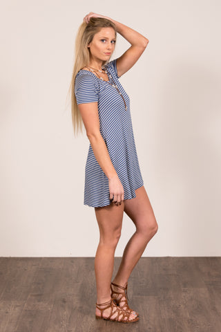 Jailhouse Rock Dress in Denim