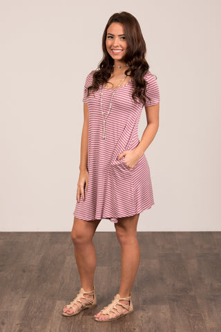 Jailhouse Rock Dress in Mauve
