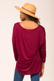 One and Only Top in Burgundy