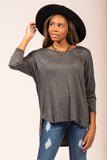 One and Only Top in Charcoal