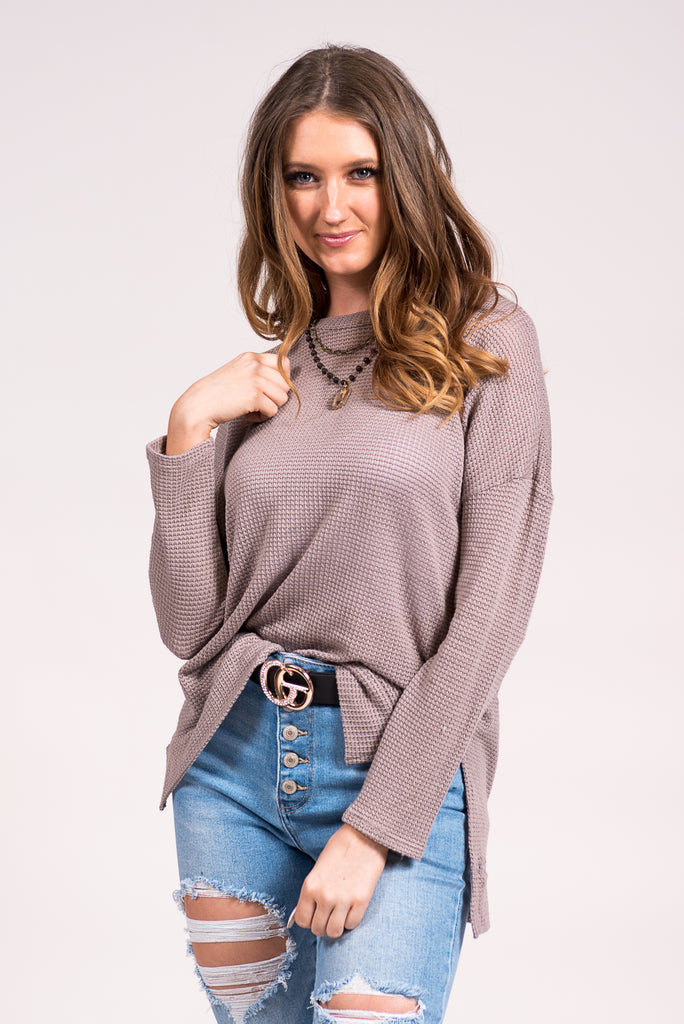 All Nighter Top in Mocha