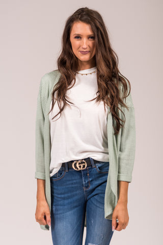 She's One of A Kind Cardigan in Mint