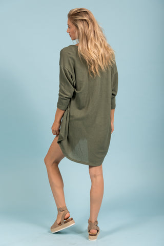 She's One of A Kind Cardigan in Olive