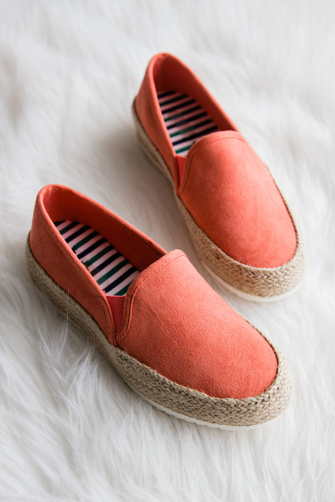 Come Again Shoes in Coral