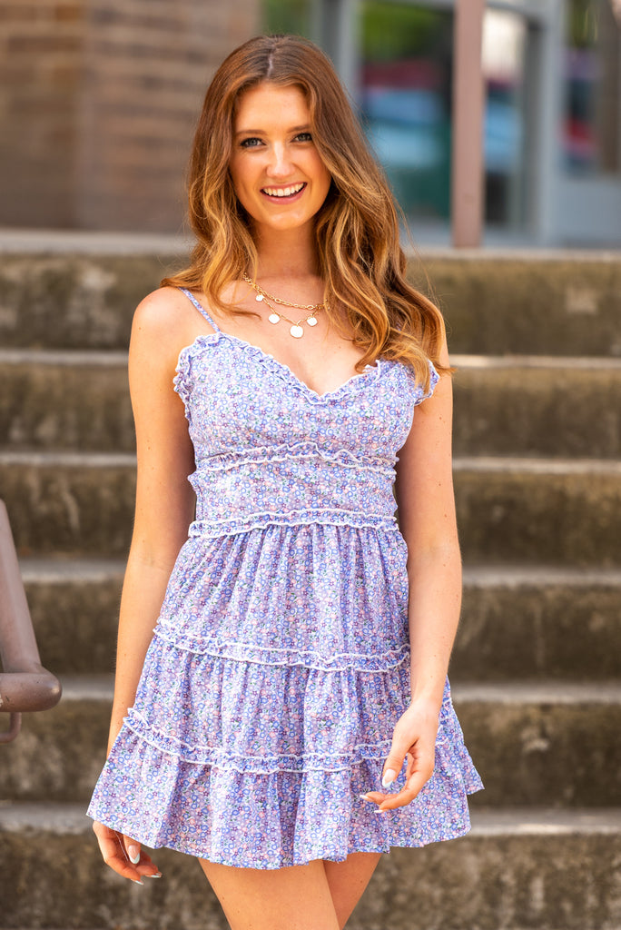 Dainty Daze Dress in Purple